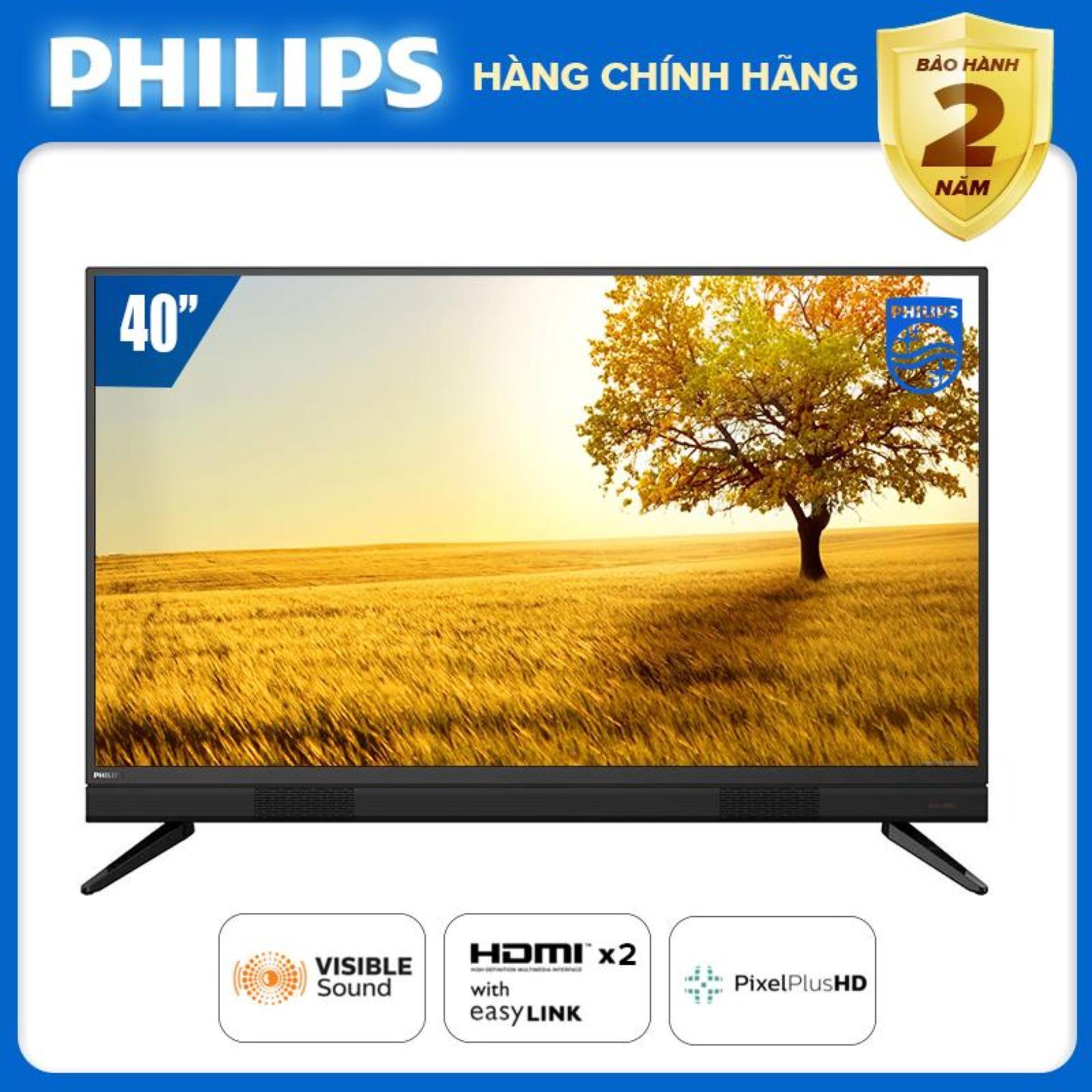 TIVI PHILIPS 40 INCH LED FULL HD 40PFT5583/74 (DIGITAL TV DVB-T2 HÀNG THÁI LAN) TIVI GIÁ RẺ TẶNG QUÀ USB XINH XẮN 16G - BẢO HÀNH 2 NĂM TẠI NHÀ