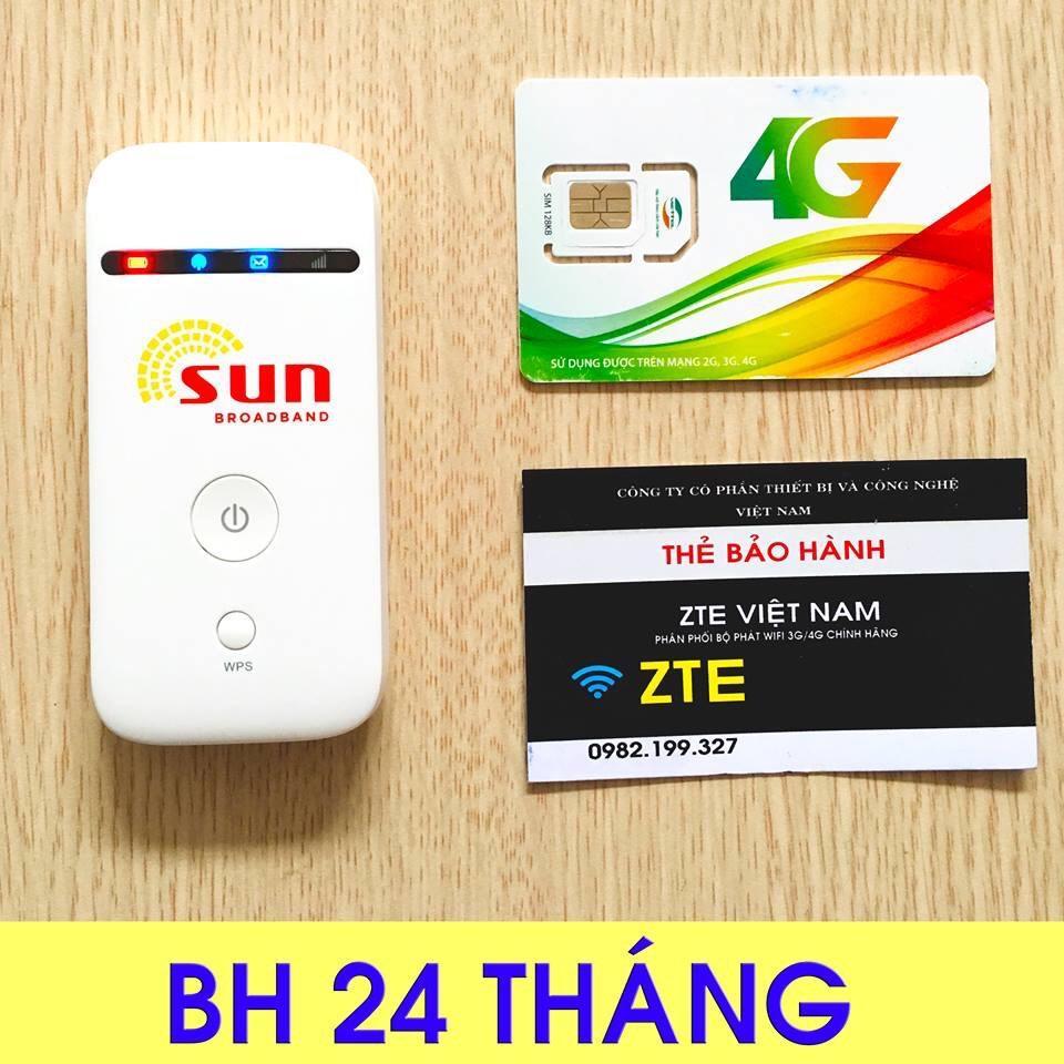 [Tặng Siêu Sim 4G 120GB-Tháng] - Bộ phát sóng wifi từ sim 3G/4G ZTE MF65 - Chất Lượng Nhật Bản -