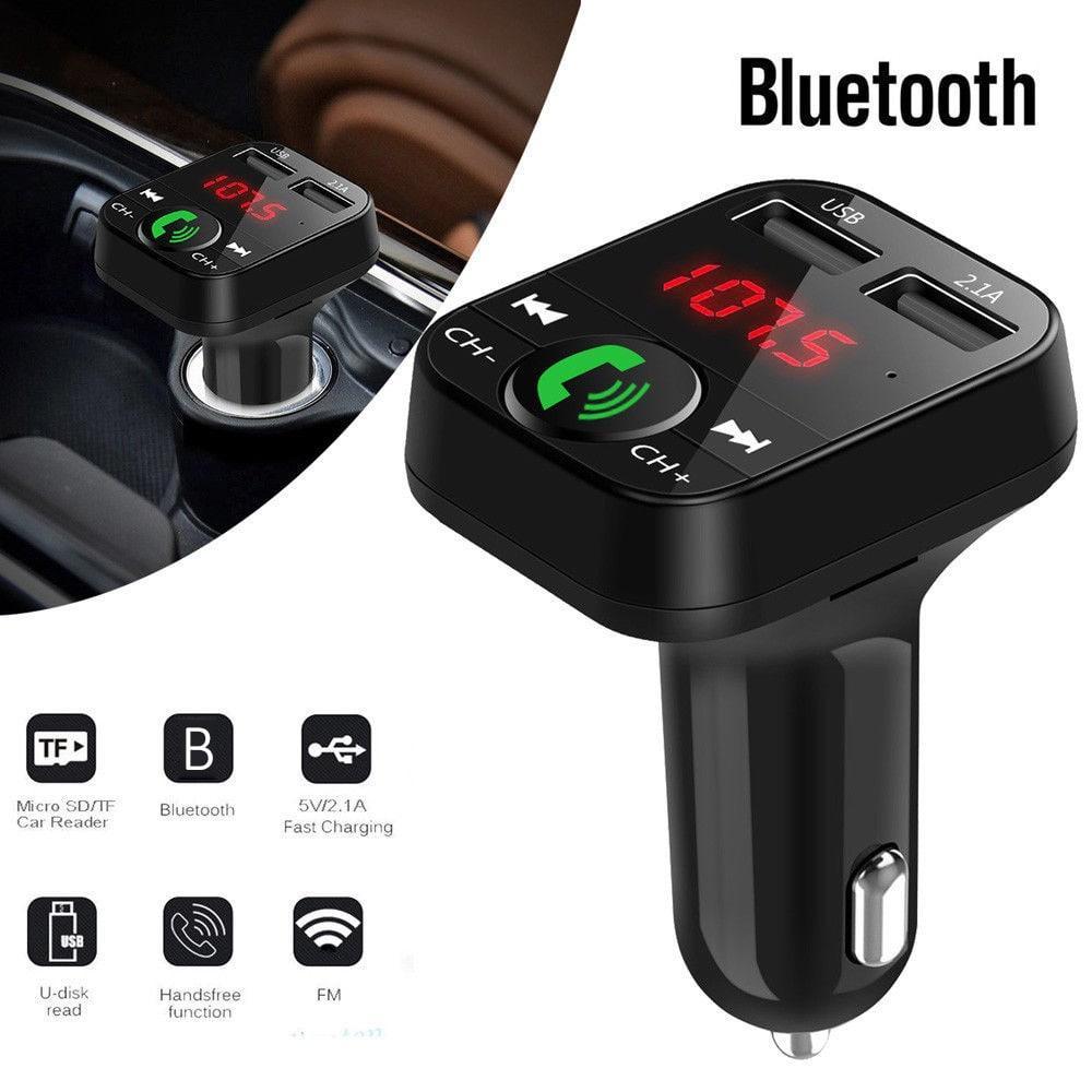 Tẩu sạc ô tô kiêm nghe nhạc MP3, kết nối điện thoại qua bluetooth, kết nối dàn âm thanh trên xe qua sóng FM 87.5