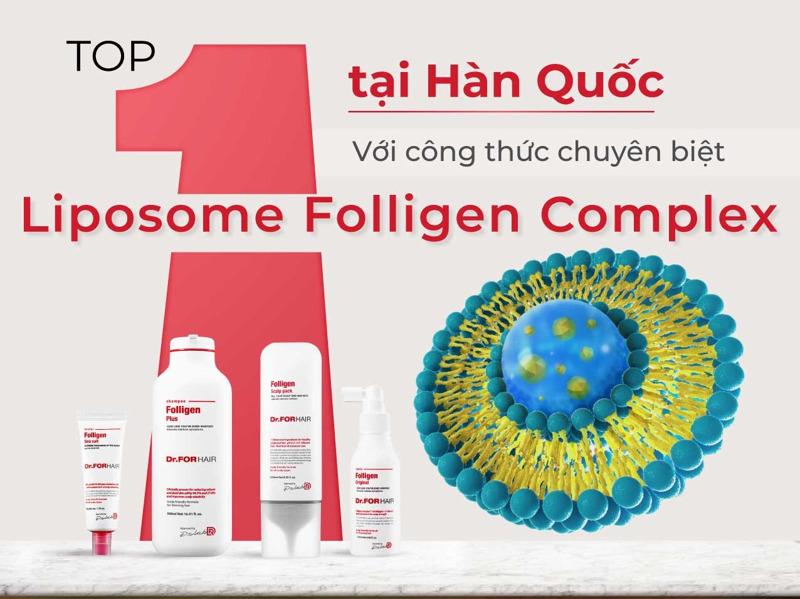 Top 1 Hàn Quốc với công thức chuyên biệt Liposome Folligen Complex